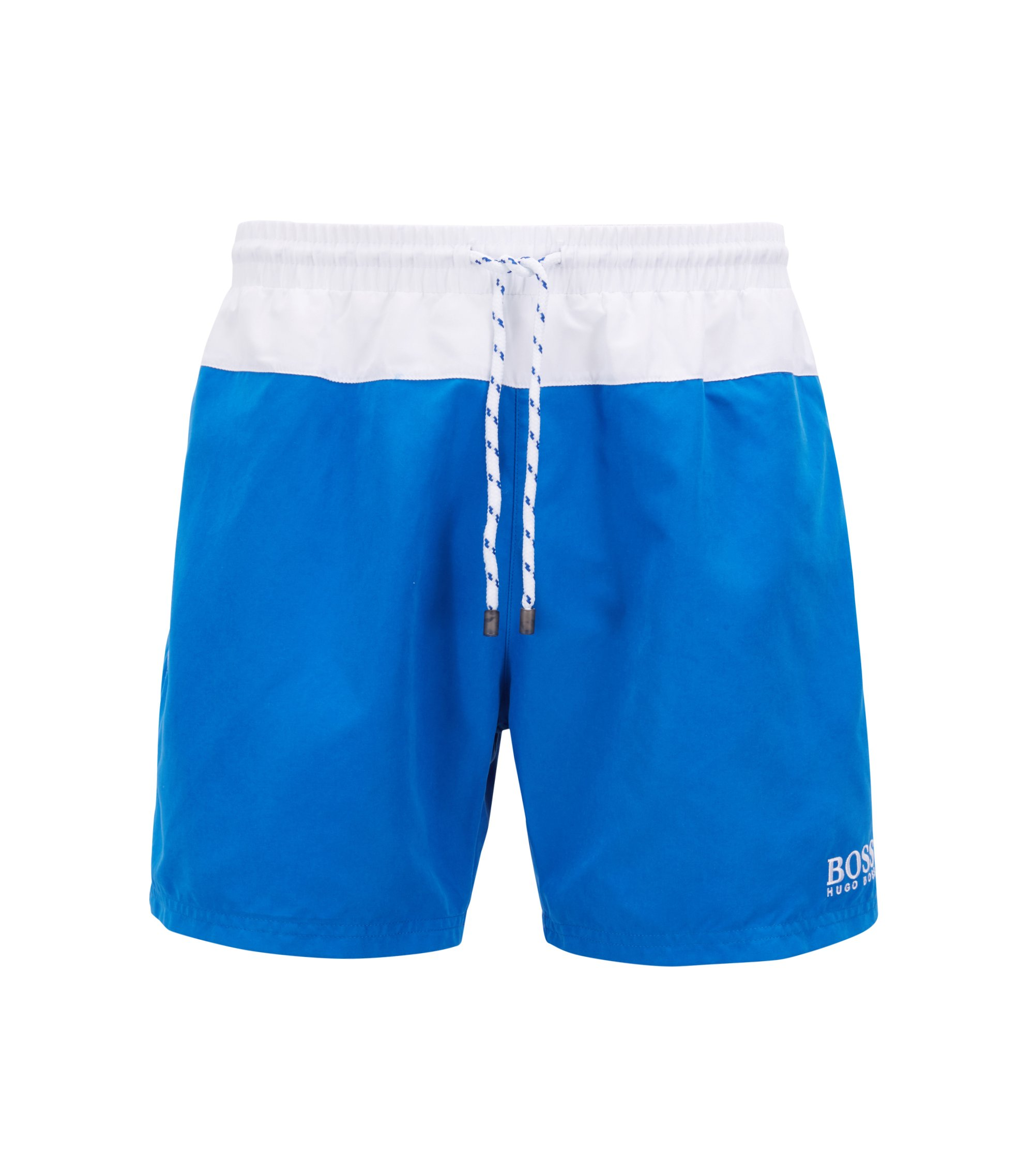 Three-piece beach set with logo detailing , Blue
