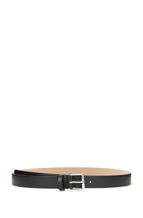 Italian-made belt in smooth calf leather BOSS kppbZHWv