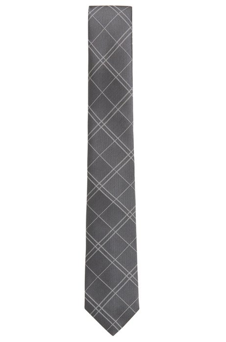 Plain check tie in silk HUGO BOSS ixOUyKzVC