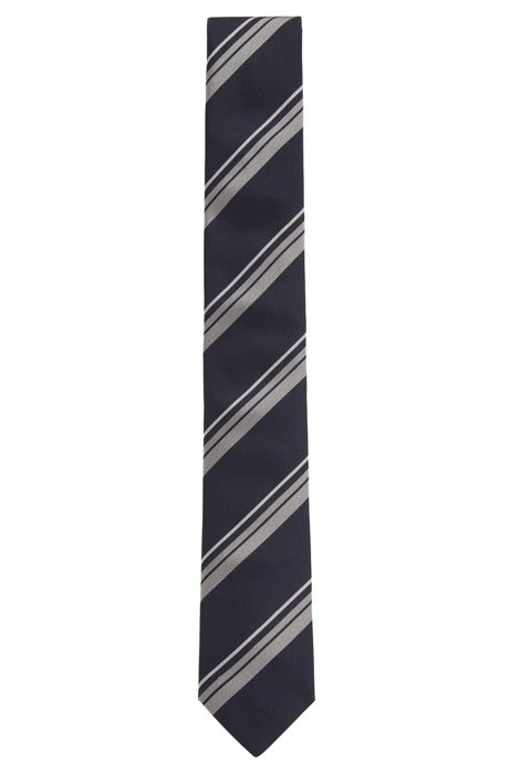 Diagonal-striped tie in silk jacquard HUGO BOSS CzAsGxfqN