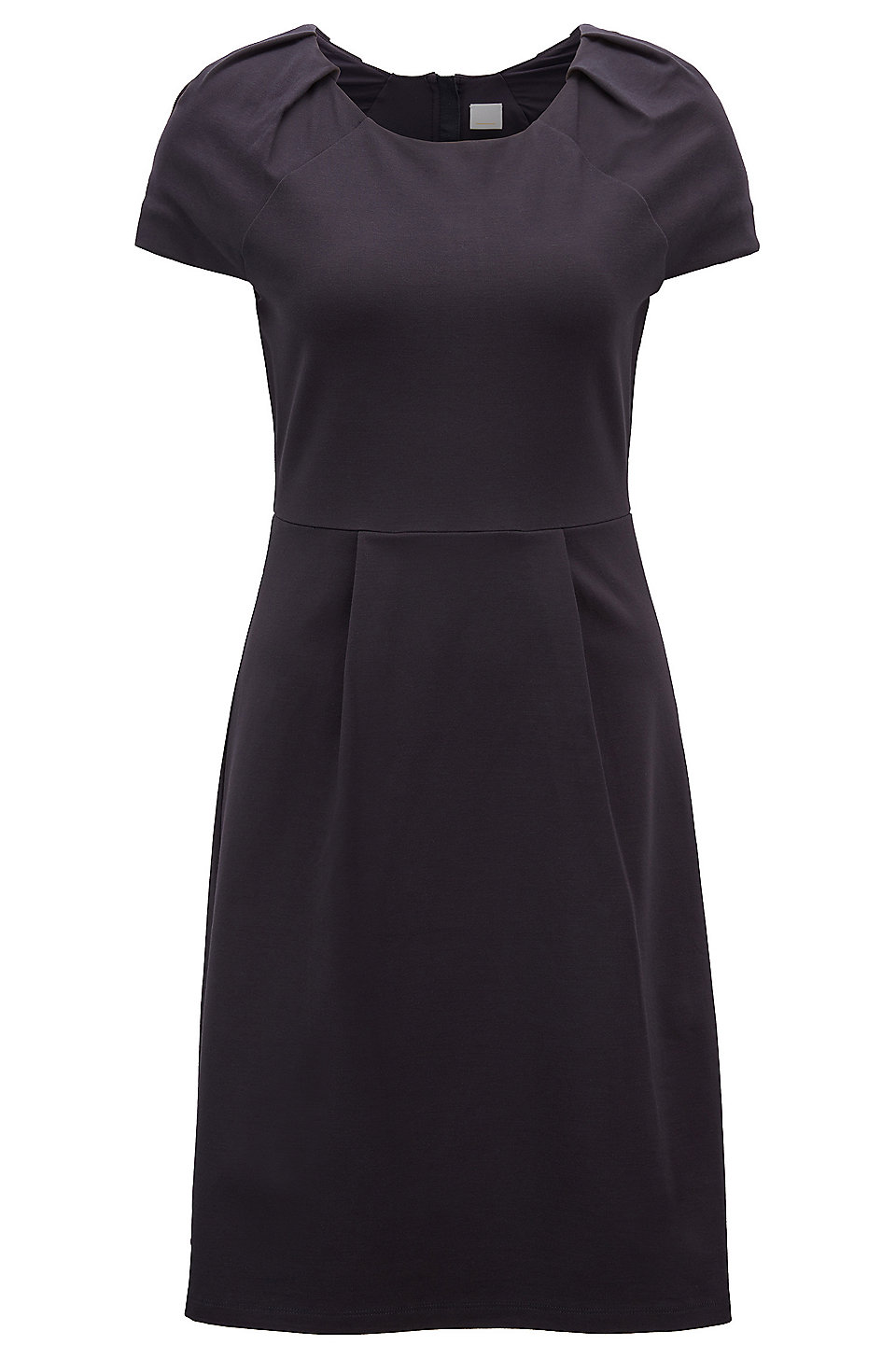 Tailored jersey dress with plissé-tape trim BOSS 2018 Newest Cheap Deals Outlet Cost Prices Cheap Price Clearance Eastbay sdPNmihMu
