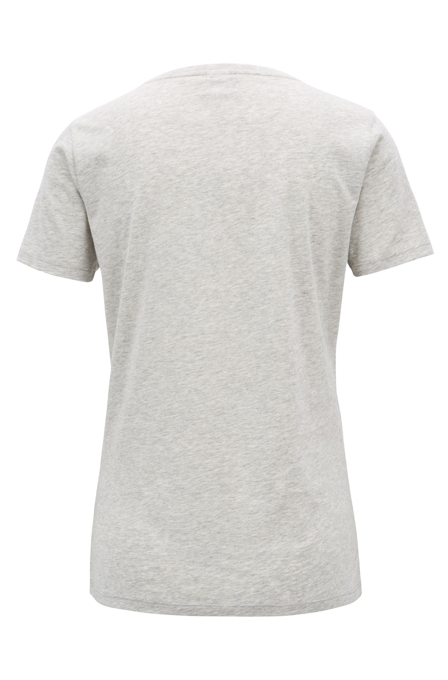 T-shirt slim fit in cotone con stampa grafica mista