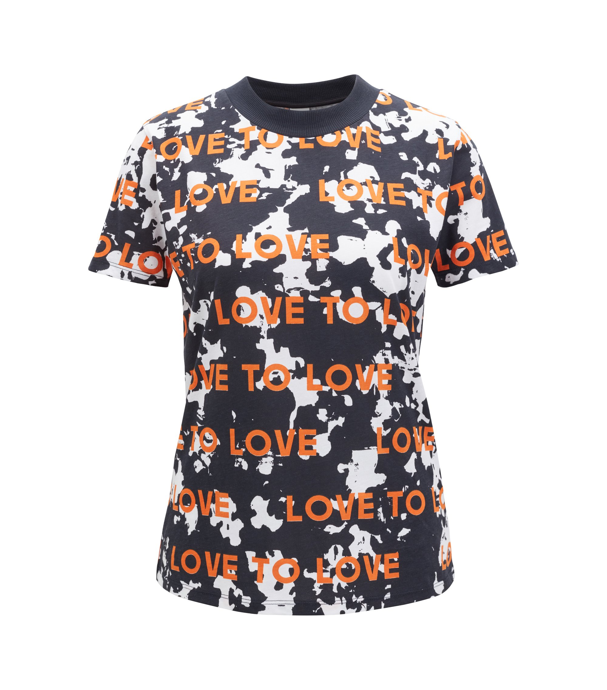 Relaxed-fit patterned T-shirt with slogan motif, Patterned
