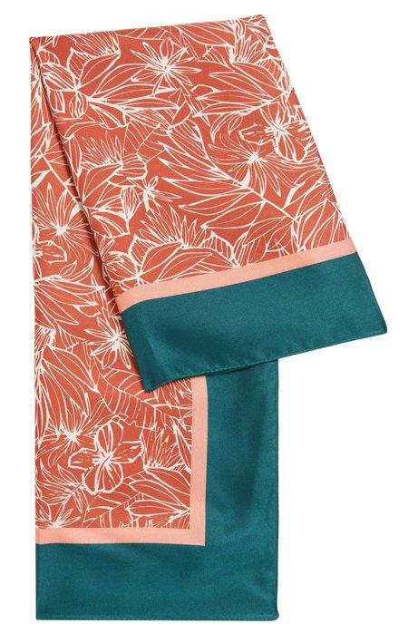 Italian-made silk bandana with placement print