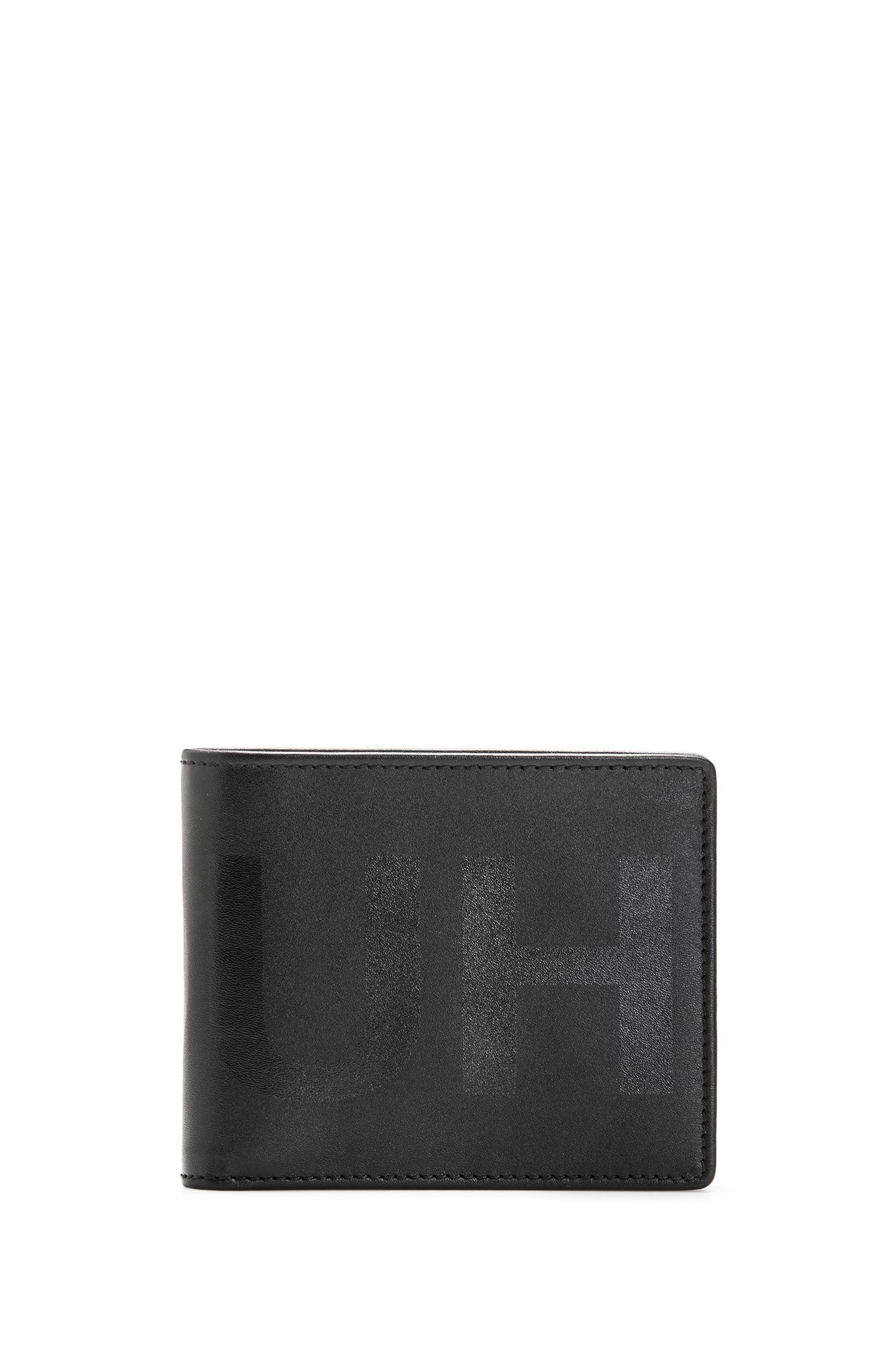 Billfold wallet with silk-printed reverse logo, Black
