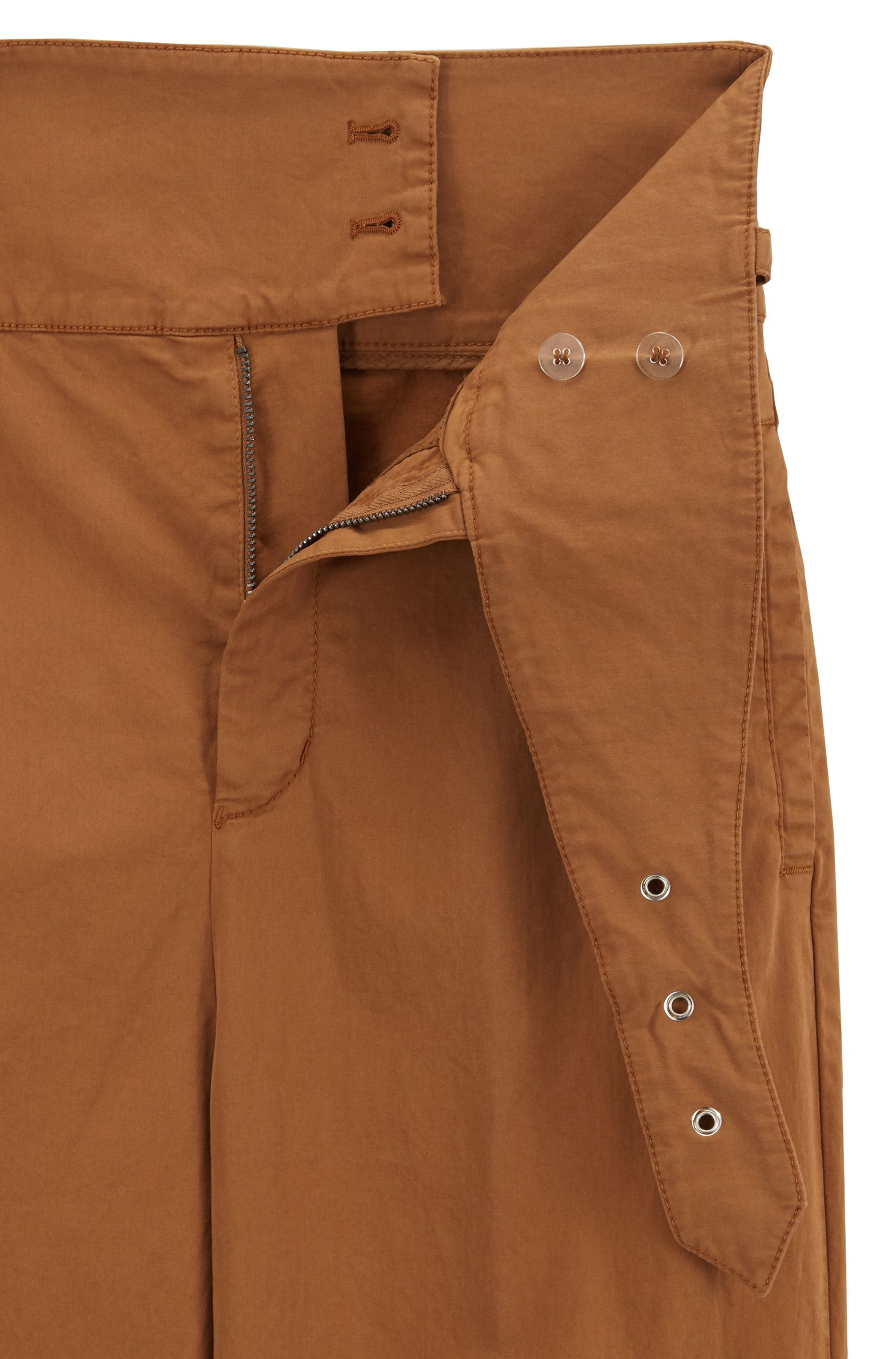 Regular-fit wide-leg trousers with belt detail