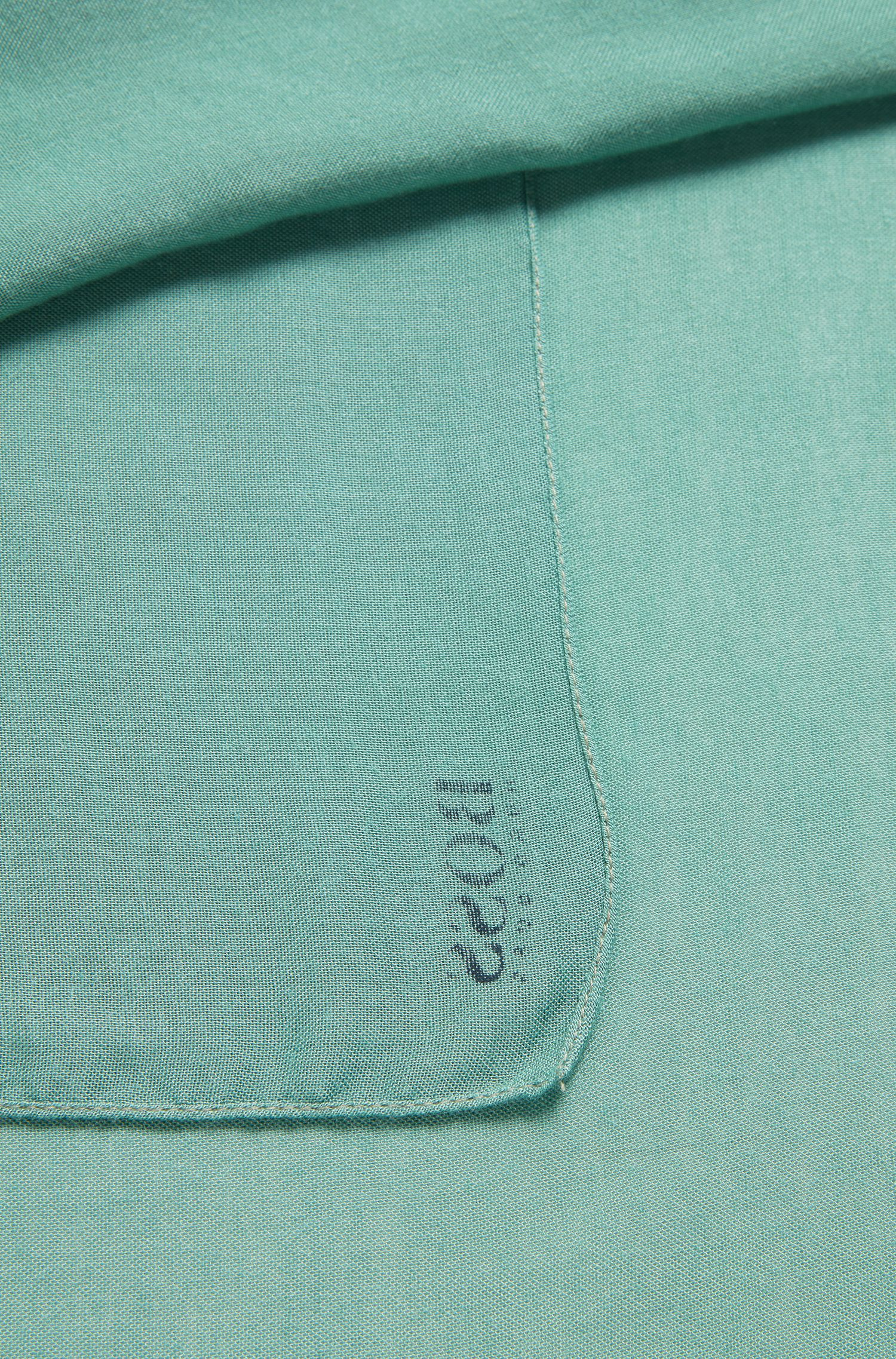 Super-soft scarf with printed logo, Light Green