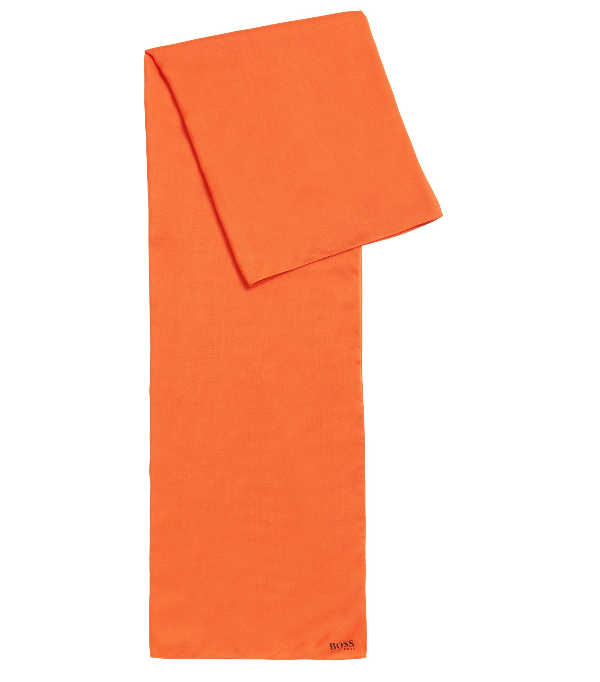 Super-soft scarf with printed logo, Orange