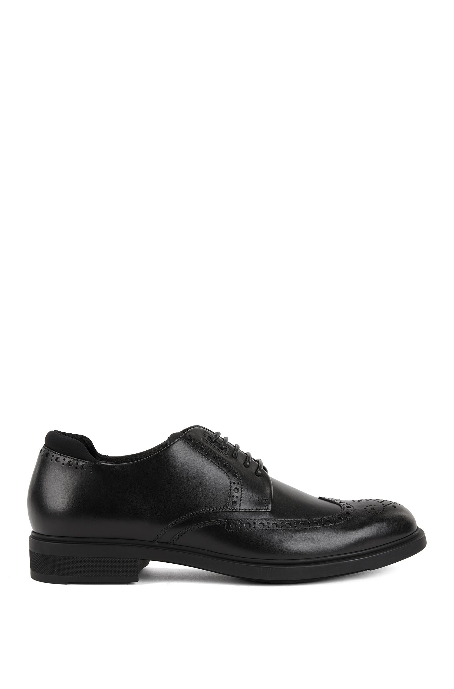 Scarpe brogue stile derby in pelle di vitello con fodera interna Outlast®, Nero