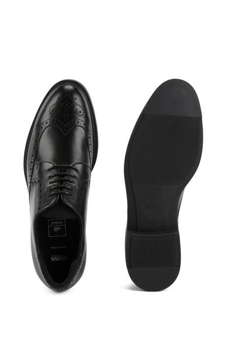 Calf-leather Derby brogue shoes with Outlast lining BOSS QzfHsS