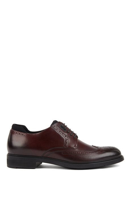 Italian-made Derby brogue shoes with Outlast® lining, Dark Red