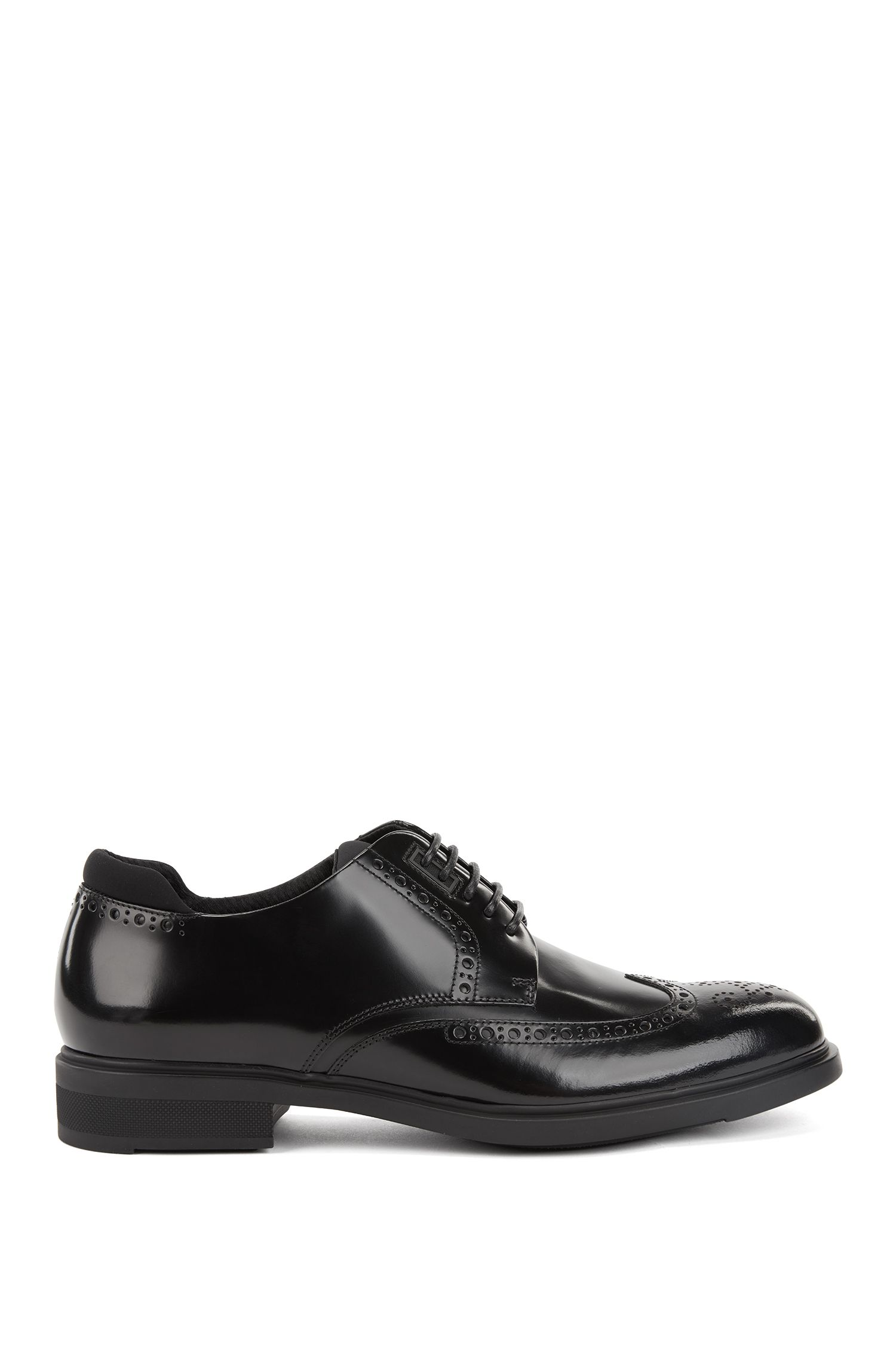 Scarpe derby in pelle con fodera interna Outlast®, Nero