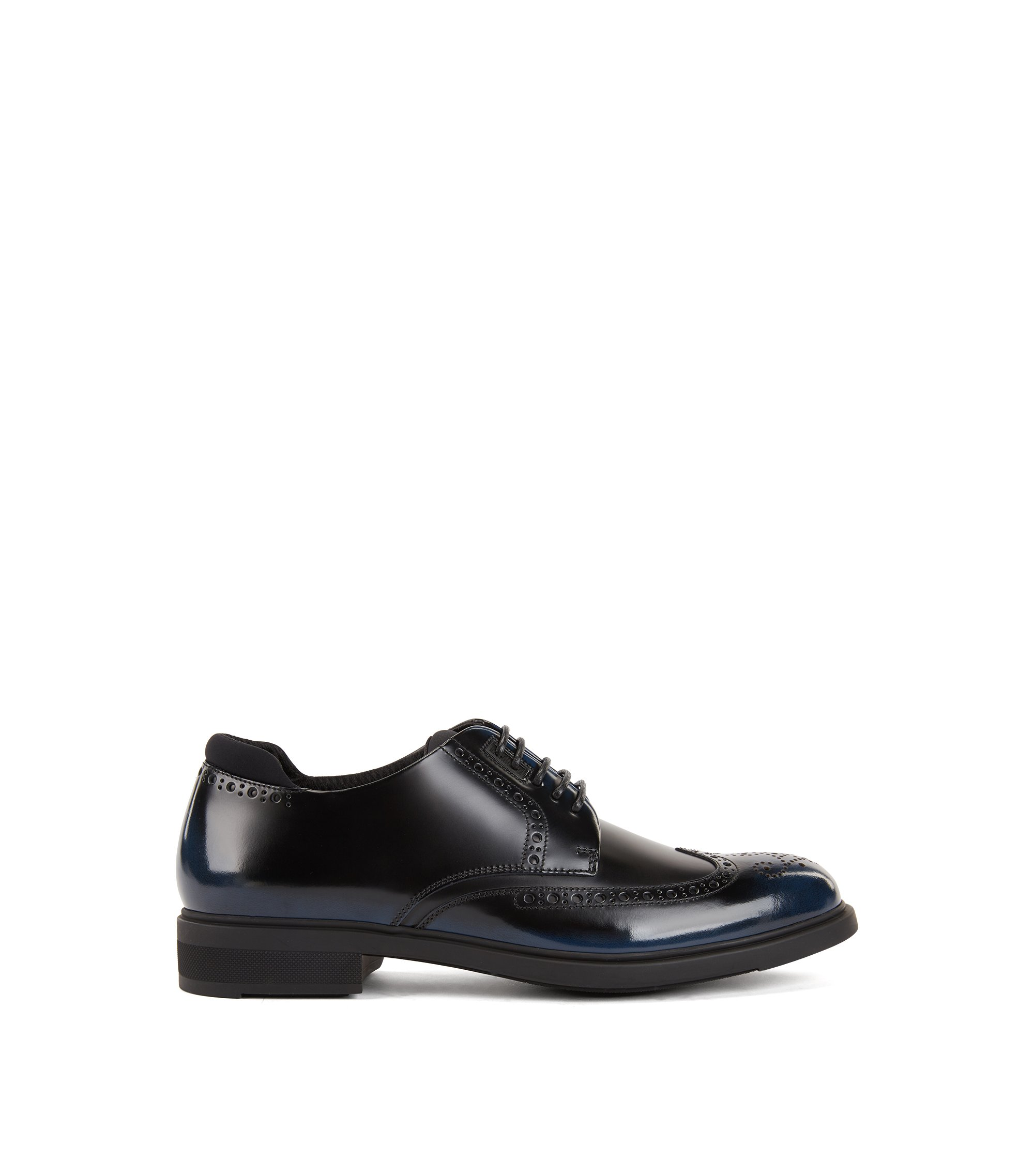 Leather Derby shoes with Outlast® lining, Dark Blue