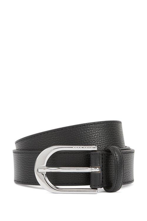 Hugo Boss - Gürtel aus italienischem Leder mit polierter, silberfarbener Schließe - 1