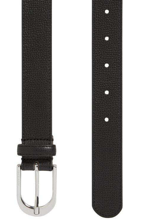 Hugo Boss - Gürtel aus italienischem Leder mit polierter, silberfarbener Schließe - 3