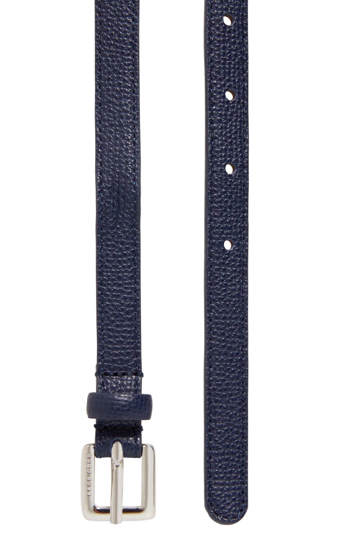Cintura sottile in pelle martellata realizzata in Italia