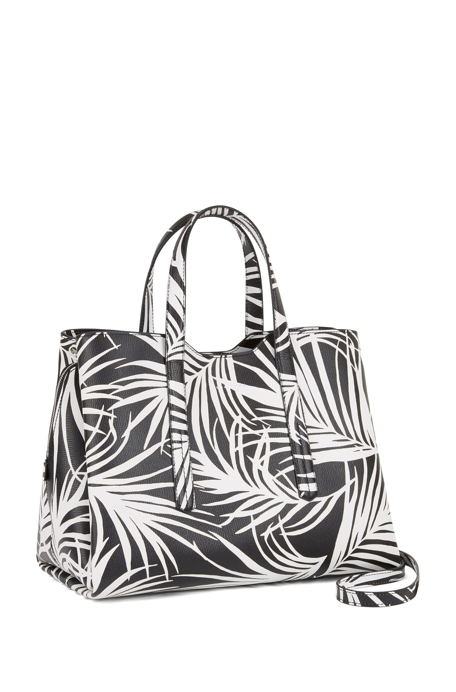 Tote bag in Italian calf leather with seasonal print