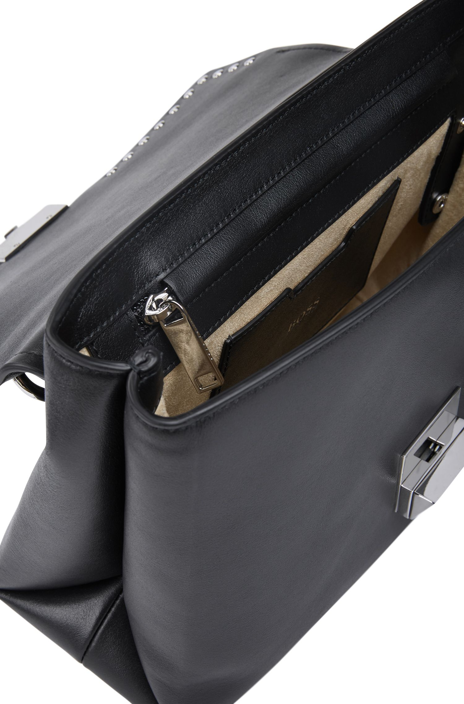 Top-handle bag in smooth Italian leather