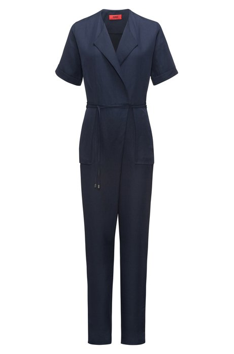 Military-inspired jumpsuit with wrapped V-neck HUGO BOSS Cheap Sale Pay With Visa Geniue Stockist Cheap Online Store Cheap Online Cool YkeU6