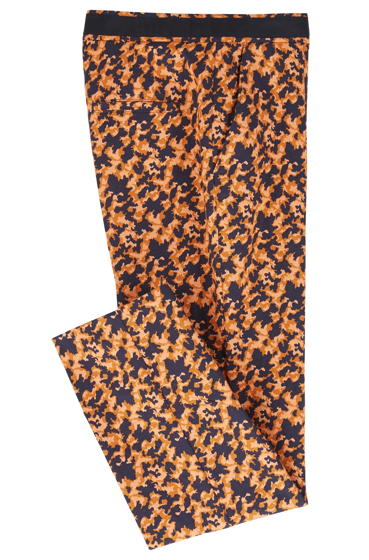 Pantalon court Regular Fit en jacquard stretch à motif puzzle, Fantaisie