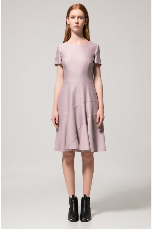 Hugo Boss - Stretch-fabric dress with panelled skirt - 3