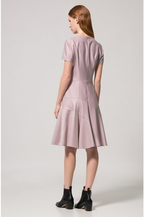 Hugo Boss - Stretch-fabric dress with panelled skirt - 4