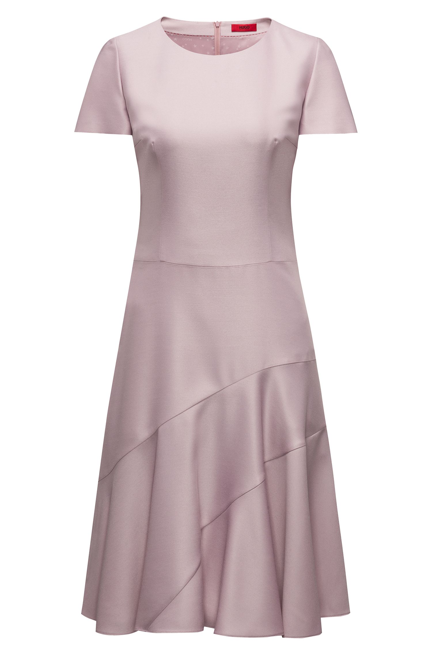 Hugo Boss - Stretch-fabric dress with panelled skirt - 1