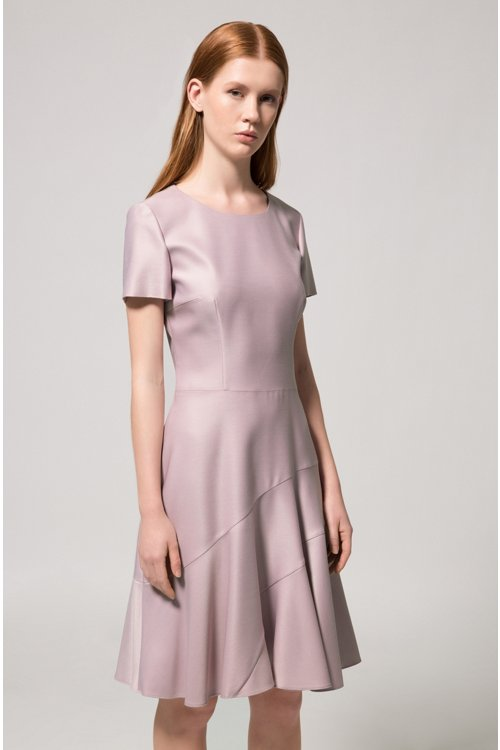 Hugo Boss - Stretch-fabric dress with panelled skirt - 2