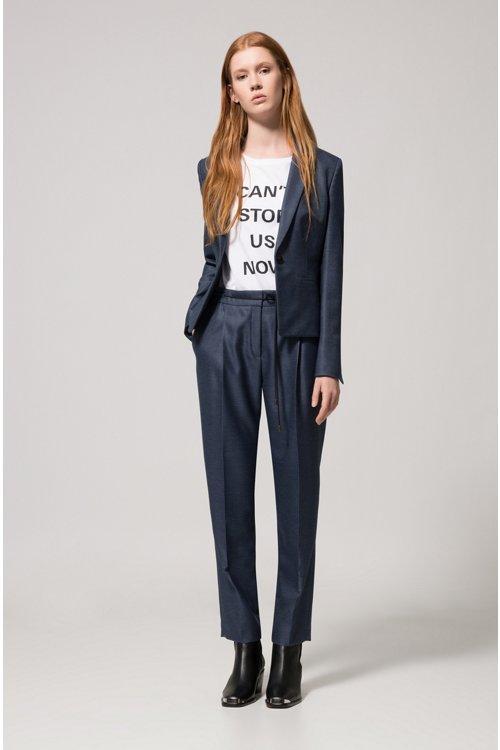 Hugo Boss - Pantalon Relaxed Fit en tissu stretch à taille avec cordon de serrage - 2