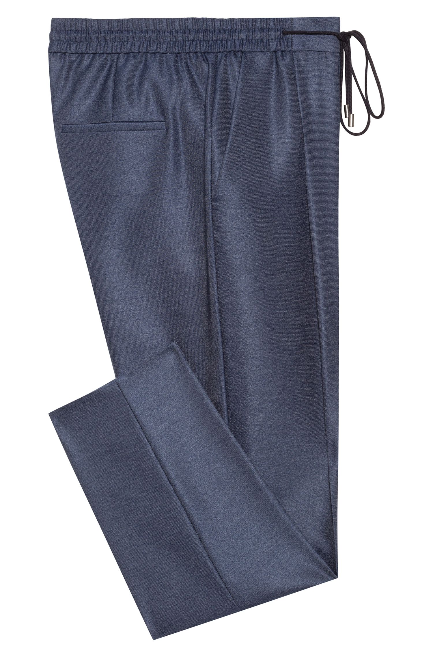 Hugo Boss - Relaxed-fit trousers in stretch fabric with drawstring waist - 4
