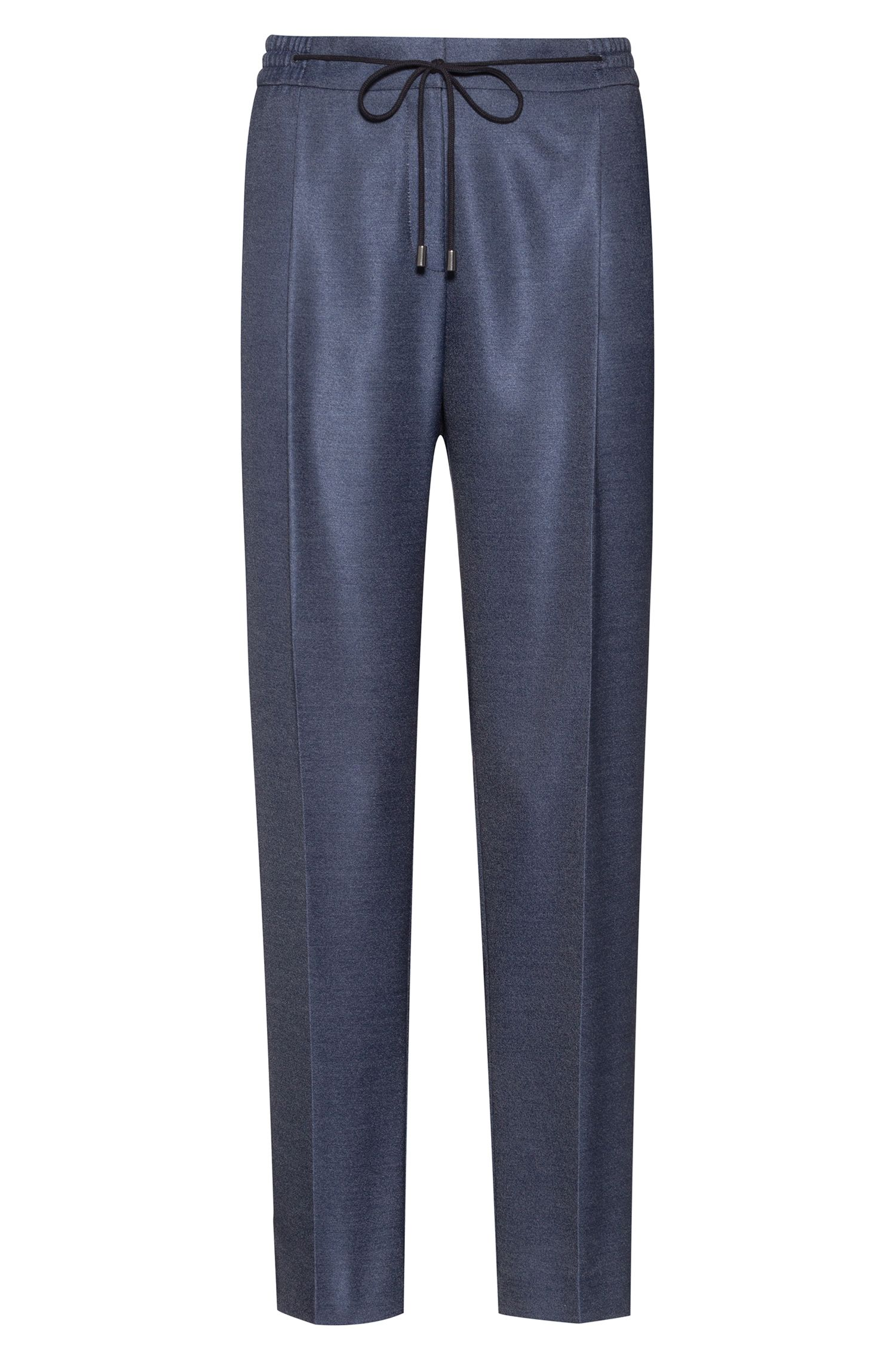 Relaxed-fit trousers in stretch fabric with drawstring waist