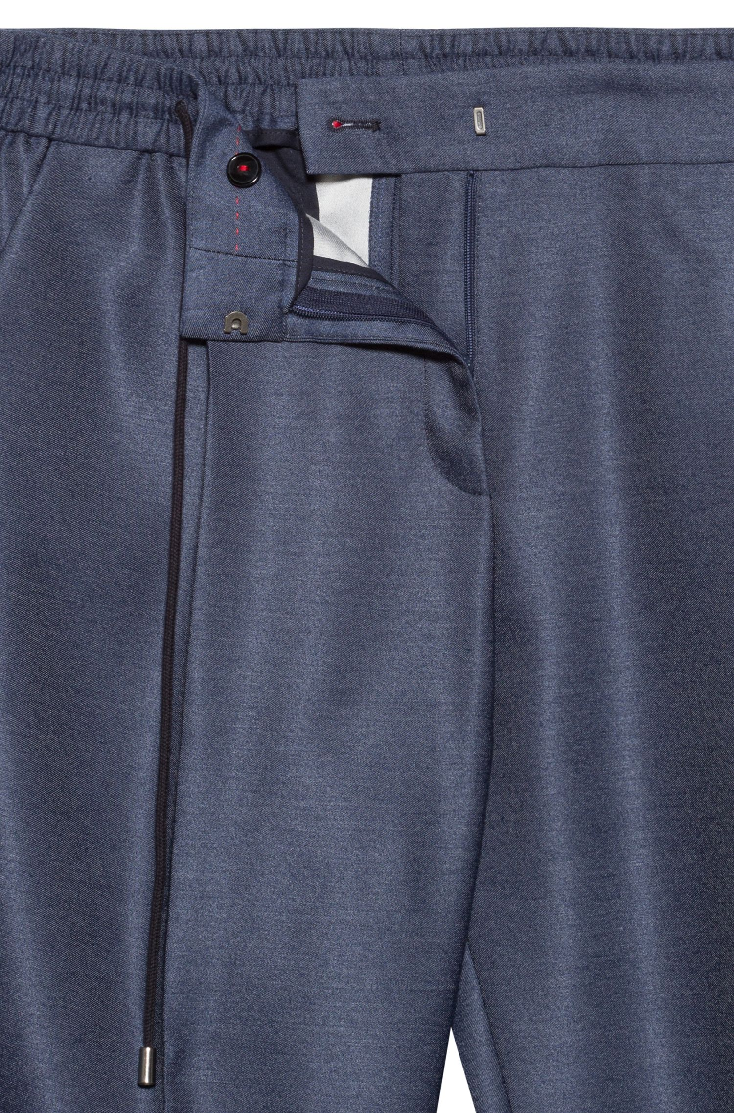 Hugo Boss - Relaxed-fit trousers in stretch fabric with drawstring waist - 5