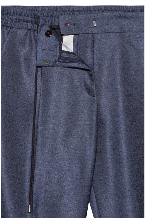 Hugo Boss - Pantalon Relaxed Fit en tissu stretch à taille avec cordon de serrage - 5