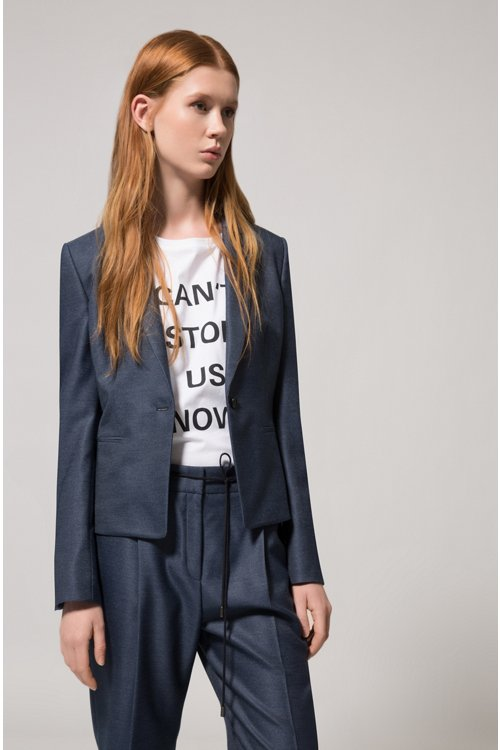 Hugo Boss - Pantalon Relaxed Fit en tissu stretch à taille avec cordon de serrage - 3