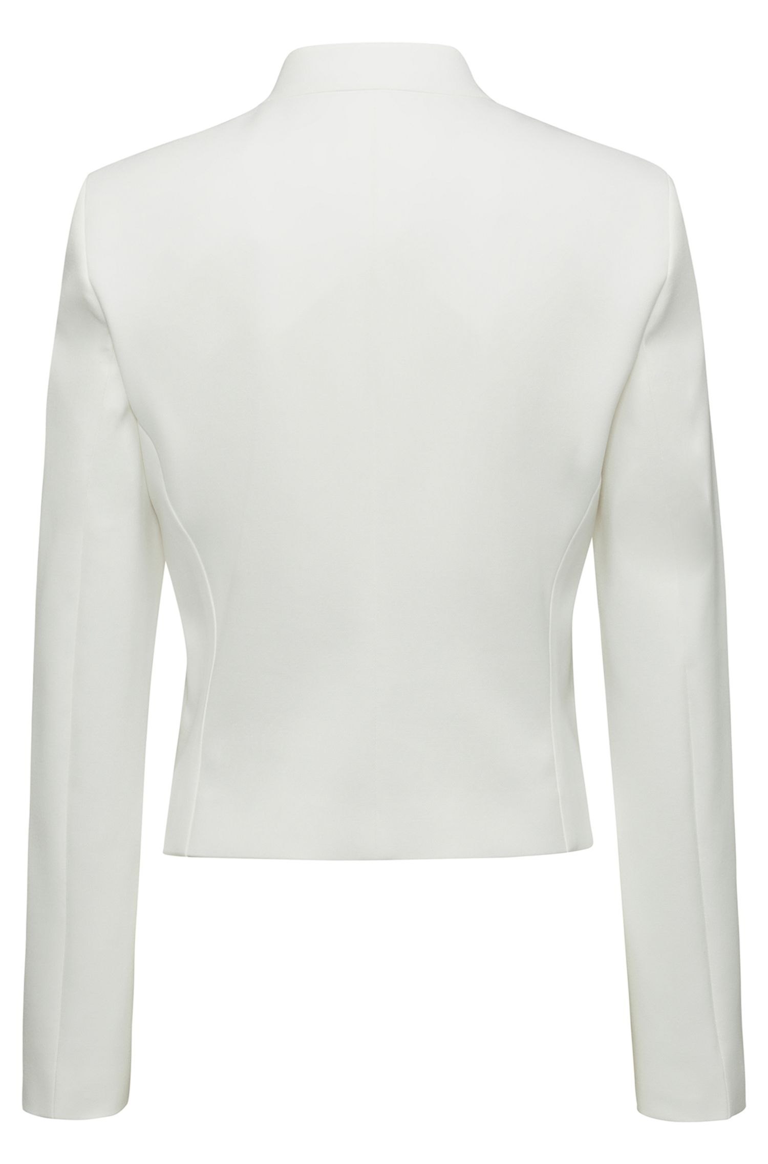 Hugo Boss - Regular-fit cropped jacket with stand collar - 4
