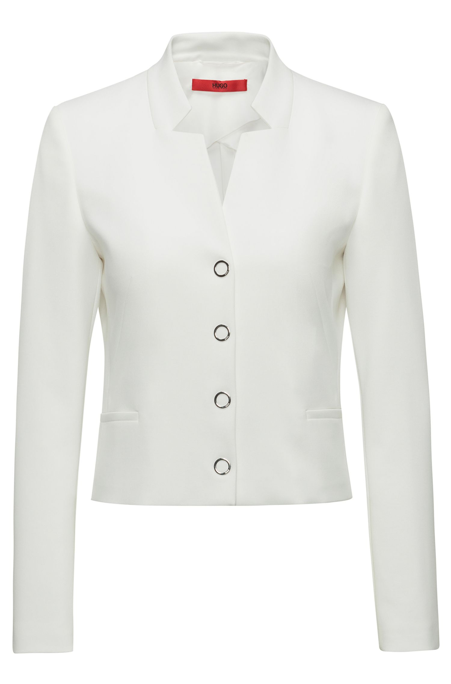 Hugo Boss - Regular-fit cropped jacket with stand collar - 1