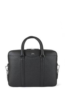 Tasche aus genarbtem Palmellato-Leder aus der Signature Collection, Schwarz