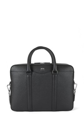 Signature Collection bag in grained palmellato leather, Black