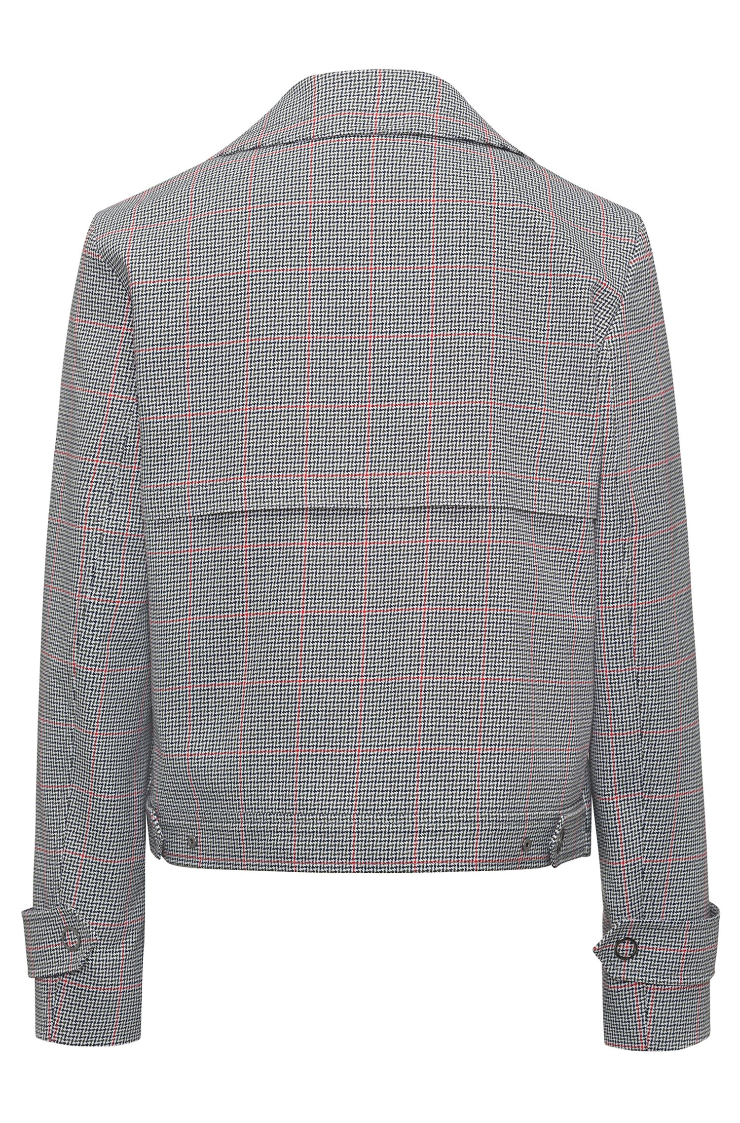 Hugo Boss - Relaxed-fit jacket in zigzag-check cotton - 4