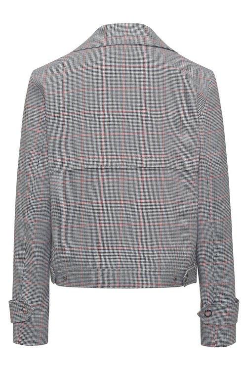 Hugo Boss - Veste Relaxed Fit en coton avec motif à carreaux en zigzag - 4