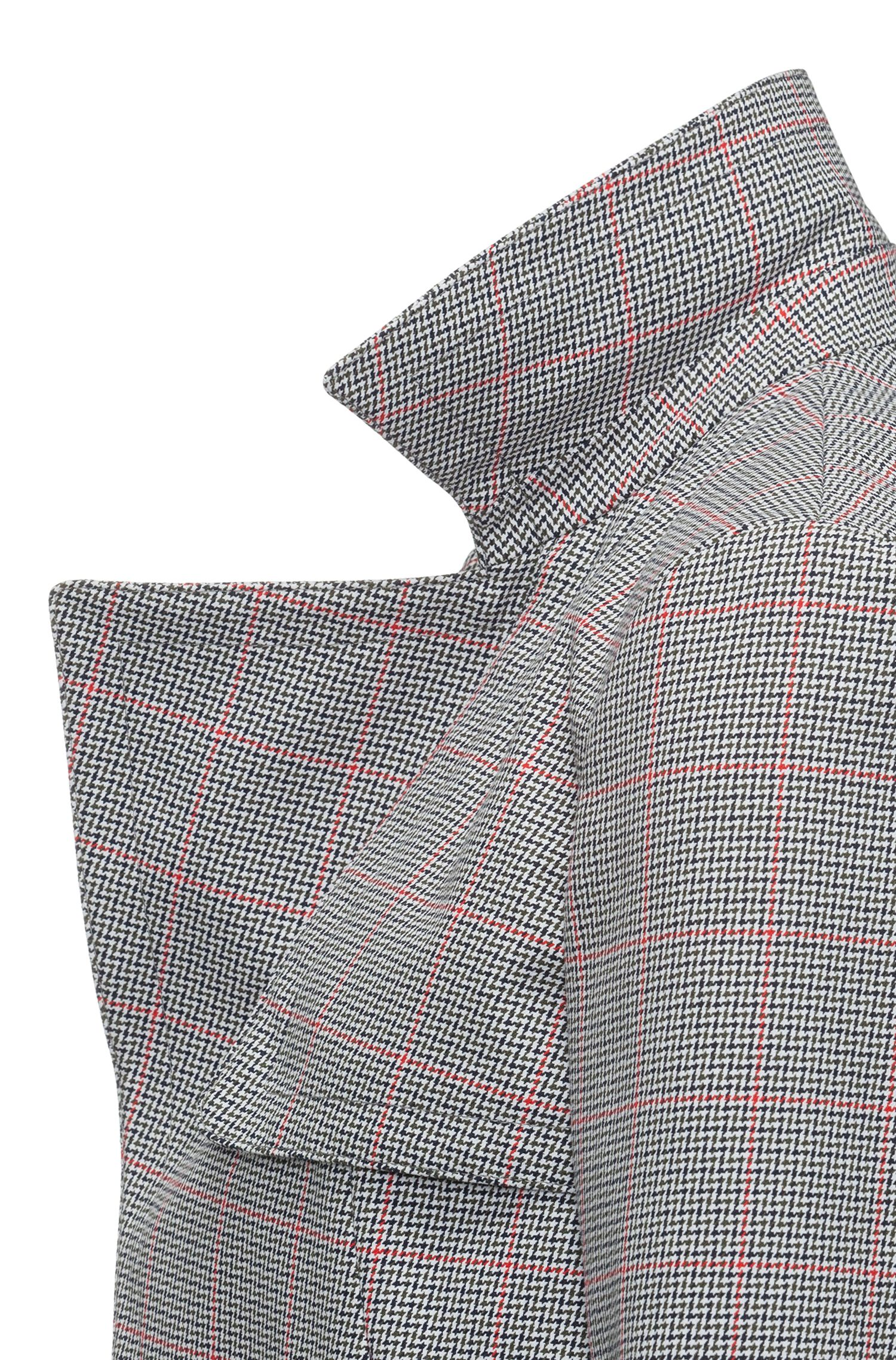 Hugo Boss - Relaxed-fit jacket in zigzag-check cotton - 5