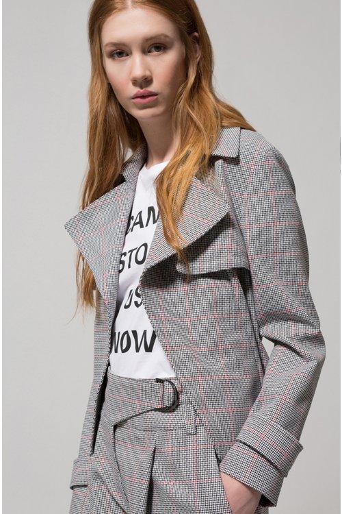 Hugo Boss - Veste Relaxed Fit en coton avec motif à carreaux en zigzag - 2