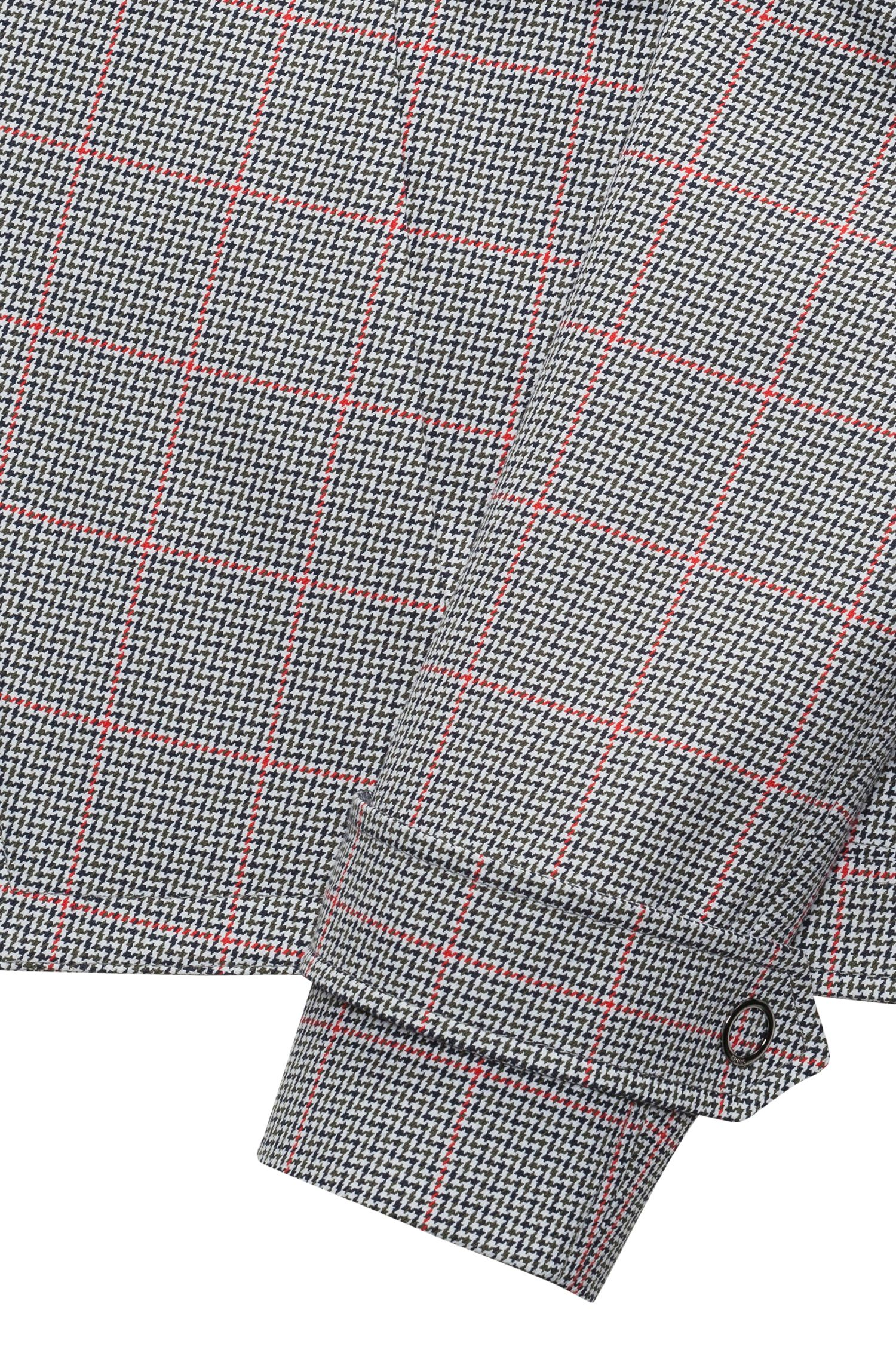 Hugo Boss - Relaxed-fit jacket in zigzag-check cotton - 6
