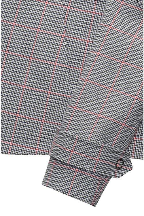 Hugo Boss - Veste Relaxed Fit en coton avec motif à carreaux en zigzag - 6