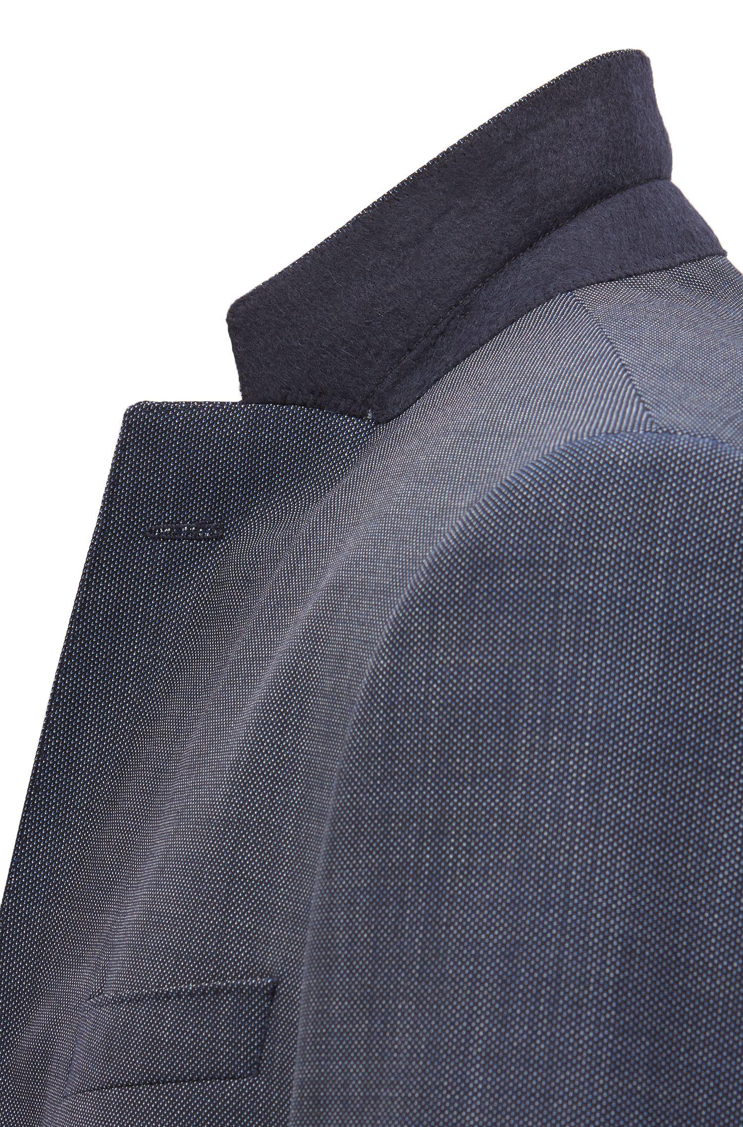 Fein gemusterter Slim-Fit Anzug aus Schurwoll-Serge