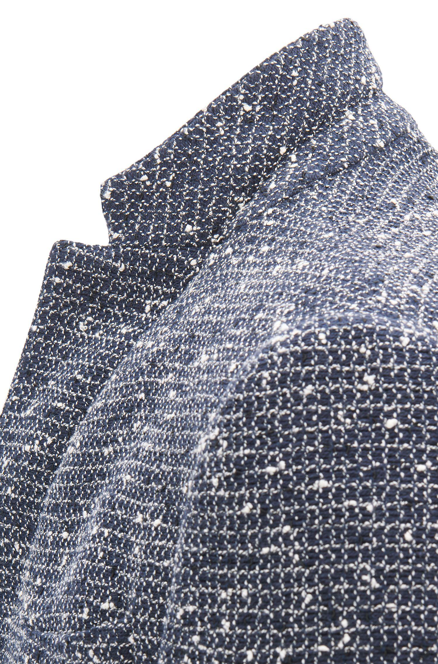 Blazer Slim Fit en coton mélangé structuré