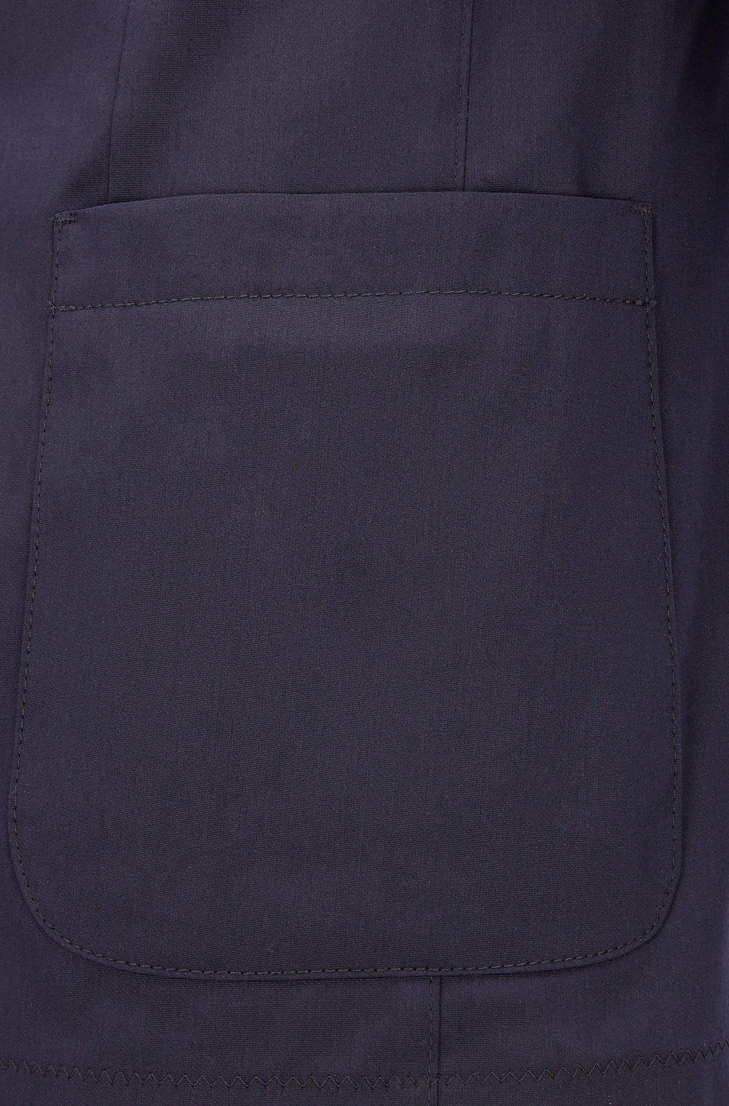 Blazer slim fit en una ligera mezcla de algodón elástico, Azul