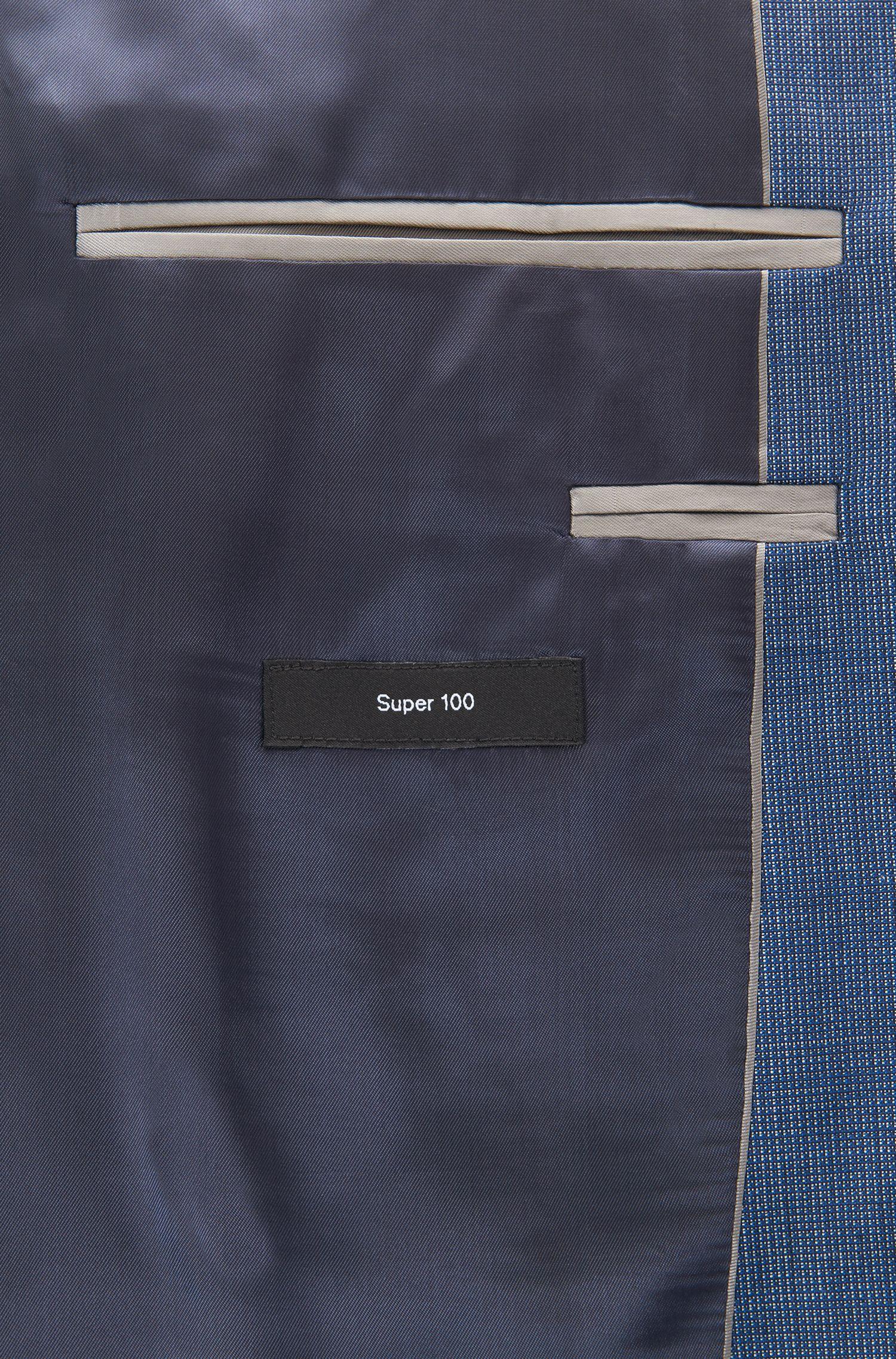 Regular-fit kostuum van gemêleerde scheerwol