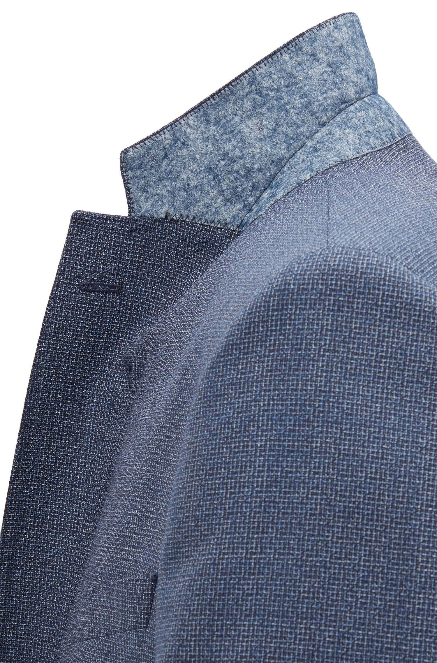 Regular-fit kostuum in een driekleurige twill van scheerwol