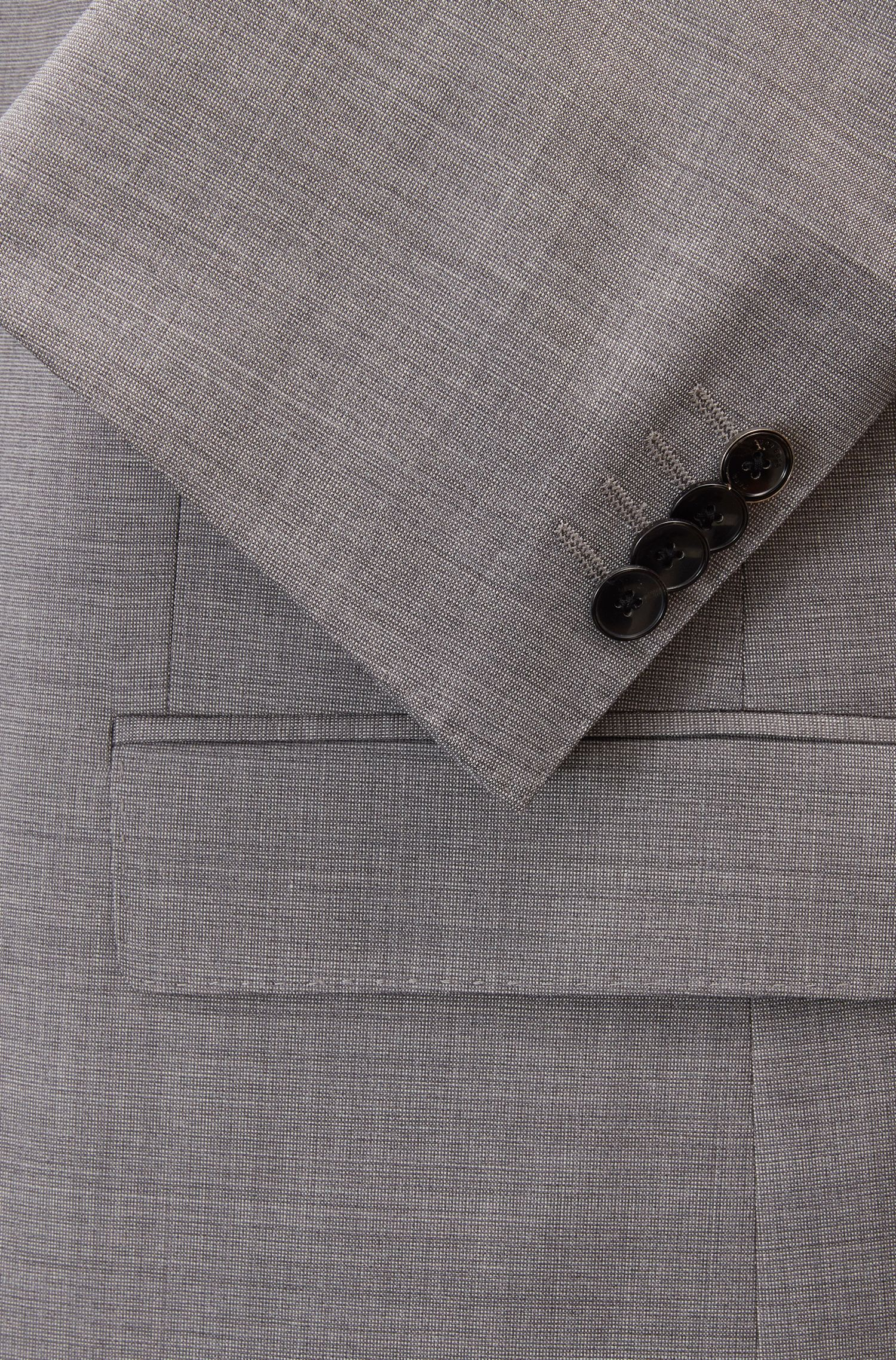 Abito regular fit in lana vergine con seta